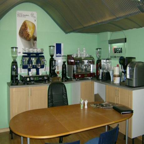 Pennine Tea and Coffee espresso machine demonstration area